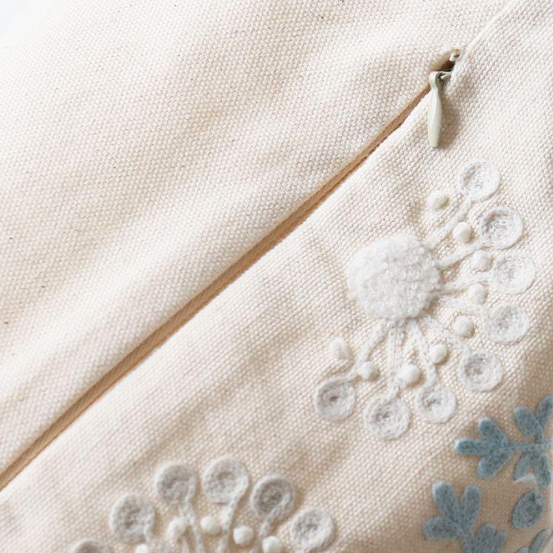 刺繍クッションカバー ファスナー