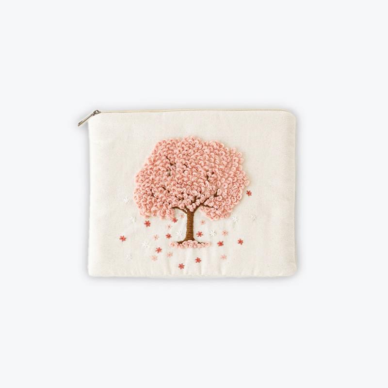 刺繍iPadポーチ さくら