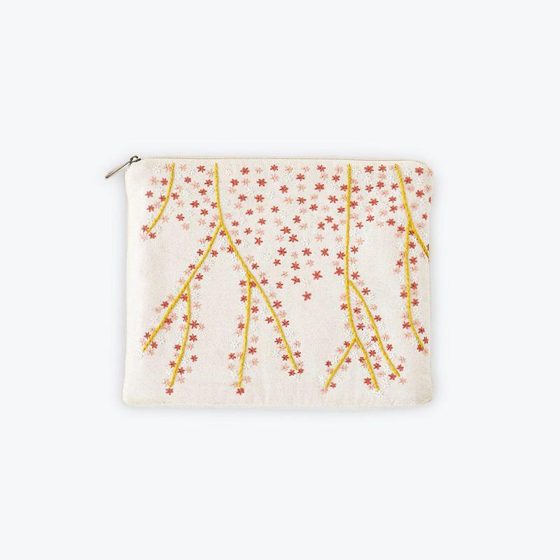 刺繍iPadポーチ フラワー