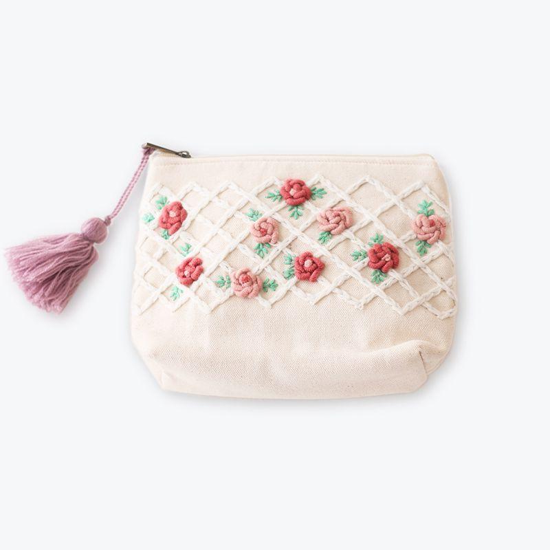 刺繍ポーチM バラ
