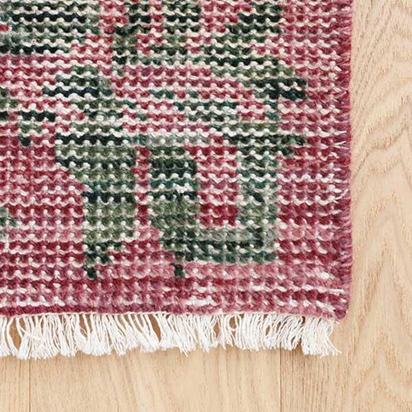 手織り 毛足を削ったヴィンテージ加工