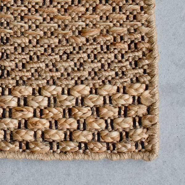 ジュートラグ リップル 織り:手編み