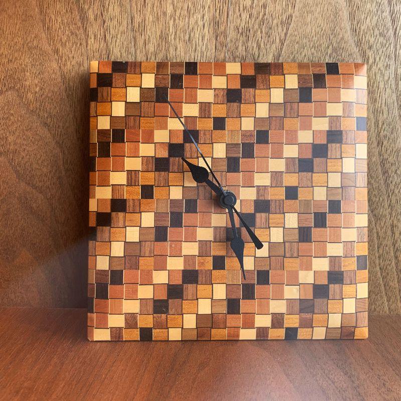 寄木細工の時計