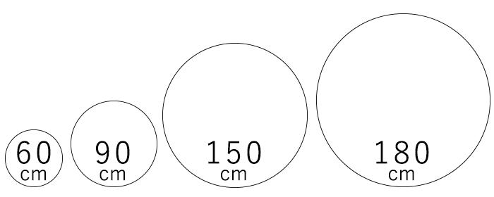 ジュートループラグ/コットンラグのサイズ展開