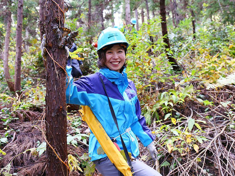 森を育てる活動