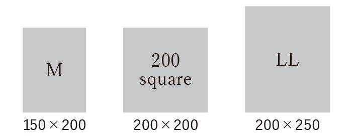 ラグのサイズ M、200SQ、LL