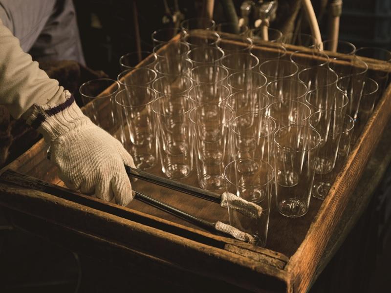 グラス製作 仕上げの工程