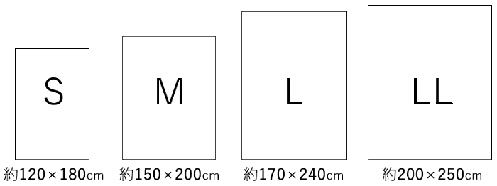 サイズ展開 S,M,L,LL