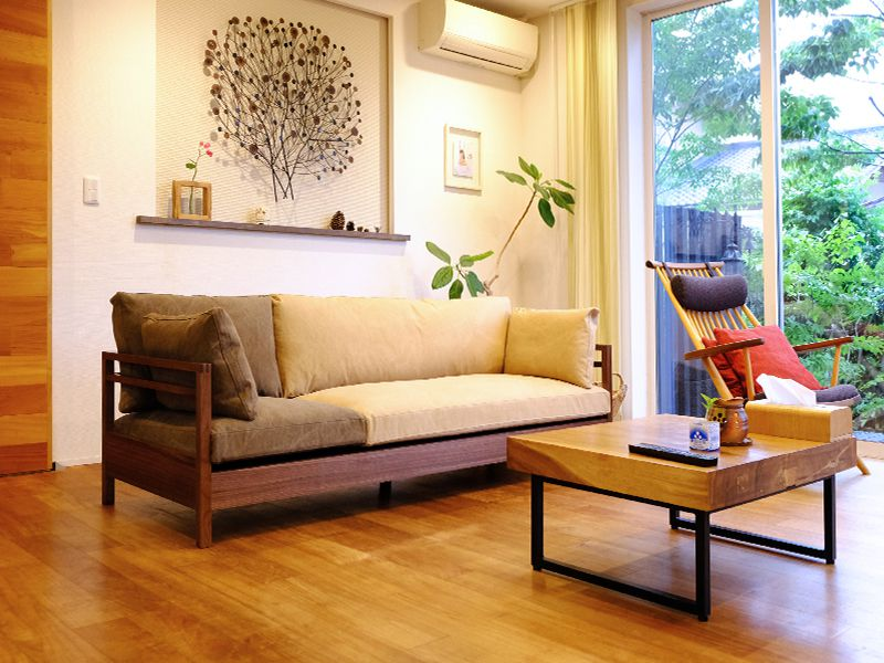 帆布のソファ