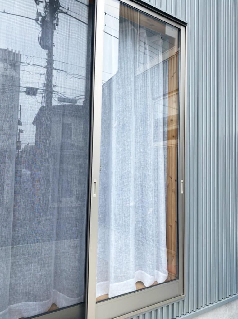8a リネン100%レースカーテン / ホワイト