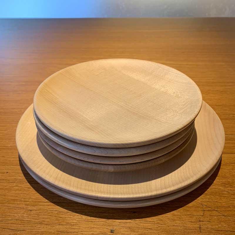 メープル材のプレートディッシュ